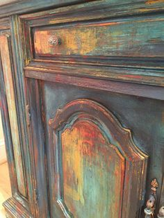 Lovable Furniture Makeover Distressed Antiques when Should You Not Paint Wood Furniture Antique Painted Corner China Cupboard Primitive Custom Distressed. Chalk Paint Furniture, Hand Painted Furniture, Funky Furniture, Refurbished Furniture, Repurposed Furniture, Furniture Projects, Furniture Makeover, Bedroom Furniture, Furniture Stores