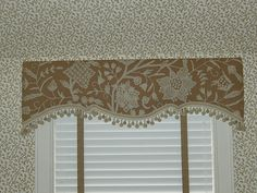 upholstered cornice boxes on small windows - Google Search