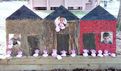 Three Little Pigs Birthday Party. bean bag toss with little pigs Book Birthday Parties, Kids Birthday Themes, Themed Parties, Dragon Birthday, Pig Birthday, Three Little Pigs Houses, Storybook Party, Pig Party, Ideias Diy