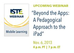 True technology integration means the use of devices isn't limited to a single activity — it's incorporated throughout the entire lesson. Learn how with this week's webinar!
