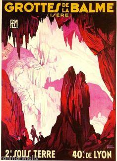 Grottes-de-la-Balme-Isere-France-French-European-Travel-Poster-Advertisement