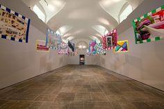 Hermès Editeur exhibition in Villa Panza, Varese, Italy. H2 Daniel Buren. Photo: Andrea Pisapia