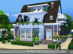Lilly is a traditional house with a touch of modernity for your Sims. Found in TSR Category 'Sims 4 Residential Lots'