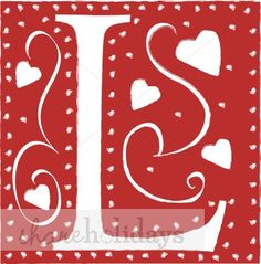 The Wedding Heart Font provides highly stylized capital letters of the alphabet decorated with hearts and set in red blocks. Monogram Letters, Letters And Numbers, Love Letters, Alpha Letter, Letter F, Heart Font, Cool Lettering, Couture, Clip Art