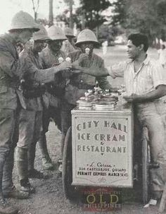Filipino Ice cream vendor during Japanese occupation in the Philippines.
