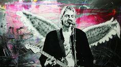 "Kurt Cobain / Collection ""Sur Mesure"" / 210 x 130 cm / Modèle : #kurtcobain / #nirvana #portrait #art #sketch #fredml #skteching #sktechs #sketchings #drawings #draw #drawing #stencil #streetart #graffiti #cans #surmesure #thinking #blackandwhite #noiretblanc #realism #drips #ink #abstract #music #guitar #wings #splash"