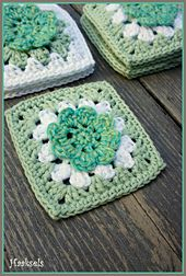Ravelry: Flower Grannie Square pattern by Haaksels - Made by Marion