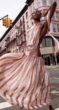 nykhor paul for moda operandi by peter goldman Mermaid Dresses, Bridal Dresses, Pink Fashion, Fashion Beauty, Nyc Fashion, Fashion Details, Rosa Style, Asian Wedding Dress, Mode Glamour