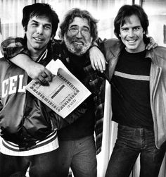 Mickey Hart, Jerry Garcia, and Bob Weir of Grateful Dead