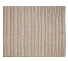 Solid Stripe Indoor/Outdoor Rug - Neutral | Pottery Barn - 3' x 5' $159 rinse clean with hose