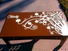 A table I did for someone what do you think ? #Painted furniture #hand painted furniture