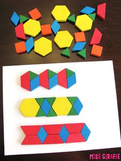 Continue the pattern (click for easy directions) and other awesome activities for composing shapes in geometry