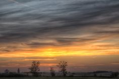 Sunset ovre the Hungarian Great PLain