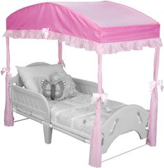 8d5607a22 [Canony Bed DIY Ideas] Delta Children Girls Canopy for Toddler Bed, Pink >