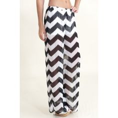 Walk This Way Chevron Pants-Black $36.00