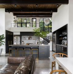 Best Professional Kitchen: Montlake Residence by Mowery Marsh Architects and Kaylen Flugel Design (Remodelista: Sourcebook for the Considered Home) Küchen Design, House Design, Design Ideas, Professional Kitchen, Wood Ceilings, Cuisines Design, Mid Century House, Interior Design Living Room, House Plans