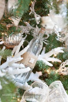 coastal chic Christmas | Seahorse & Stripes: COASTAL CHIC DESIGNER CHRISTMAS TREE 2012