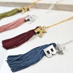 Personalised Silk Tassel Necklace