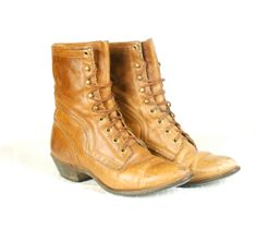 Women's roper boots vintage leather lace up by joyridevintage, $74.00