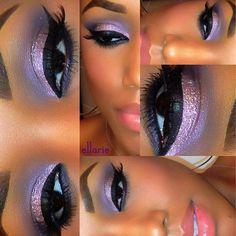Beautiful purple makeup look