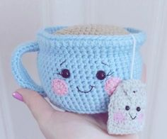Teacup Pincushion Crochet Pattern Video Tutorial