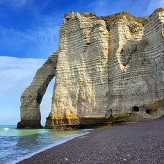 Étretat, France via @escapeartistnyc