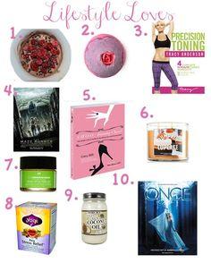 Top 10 Lifestyle Loves on my blog glamglitterandgloss.com