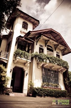 nays house - Tarlac, Philippines Filipino Architecture, Philippine Architecture, Colonial Architecture, Historical Architecture, Home Building Design, House Design, Filipino House, Philippine Houses, French Colonial
