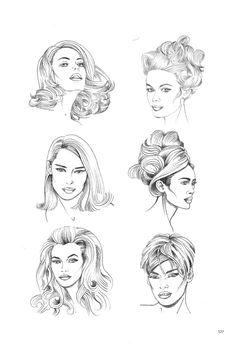 6. dibujo de figurines para el diseño de moda.