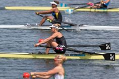 New Zealand rower Emma Twigg in action in Heat 1 of the Womens Single Sculls, at Eton Dorney during the 2012 London Olympics. Photo / Brett Phibbs