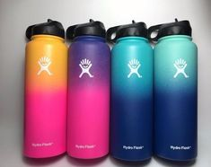 Hydro Flask Insulated Stainless Steel Water Bottle, Wide Mouth with Straw Lid Water Bottle Art, Cute Water Bottles, Water Bottle Design, Custom Hydro Flask, Hydro Flask Water Bottle, Plastic Bottle Flowers, Stainless Steel Water Bottle, Aqua, Hydro Flask Colors