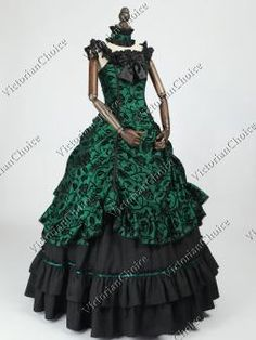 Brand New Victorian Steampunk Brass Age Wild West Dress Women Adult Costume