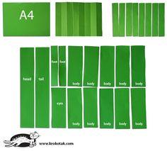 Крокодил от лист А4