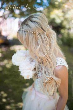 Gold or Silver Boho Hair Vine, Long Hair Vine, Boho Bridal Pearl Flower Hair Crown, Hair Wreath, Wedding Headpiece - 'MAY' Headpiece Wedding, Bridal Headpieces, Bridal Hair, Crown Hairstyles, Boho Hairstyles, Natural Hairstyles, Hair Wreaths, Hair Vine, Pearl Flower
