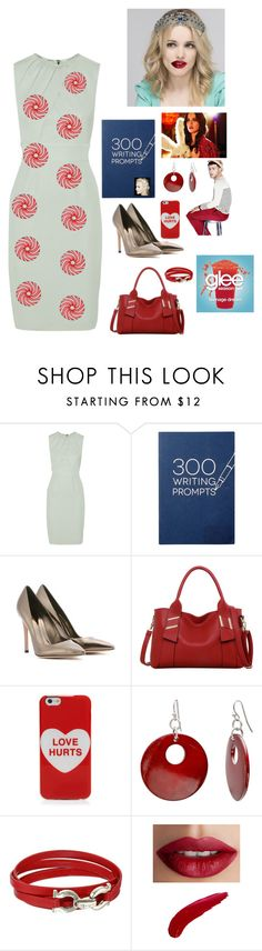 """""""Oh we oh"""" by theater-potter-dance-warriors ❤ liked on Polyvore featuring Burberry, Gianvito Rossi, GINTA, LineShow, Marc Jacobs, Mixit, Salvatore Ferragamo and TheBalm"""