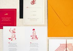 Oh So Beautiful Paper: Jessica + Cecil's Illustrated Paris-Inspired Wedding Invitations
