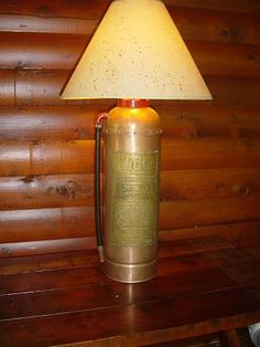 Fire Extinguisher Lamp [My husband was supposed to make one of these for me years ago.]