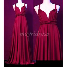 Maroon Full Length Infinity Dress Wrap Convertible Dress Evening Bridesmaid Maxi Dress Plum  $99 MADE TO YOUR SIZE & LENGTH.