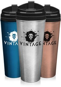 24 oz Stainless Steel Travel Mugs w/ Plastic Lid