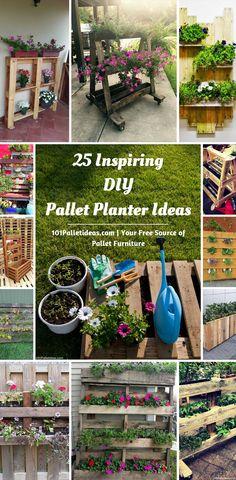 25 Inspiring DIY Pallet Planter Ideas | 101 Pallet Ideas