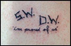 Resultado de imagem para s.w. d.w tattoo