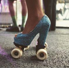 Fancy Footwear | Glitter Skate Heels