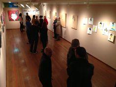 Primera expo colectiva organizada por The Walrus Hub en la Walrus Gallery, 25/04/13  los primeros en llegar