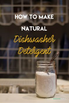 Here is an all-natural dishwasher detergent that really works! Honestly, most homemade detergents don't get the job done. This one does!