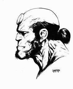 Hellboy Inks 2013 by Arciah on DeviantArt Comic Drawing, Cartoon Drawings, Art Drawings, Comic Book Characters, Comic Books Art, Comic Art, Cool Sketches, Drawing Sketches, Hellboy Tattoo