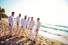 Groomsmen attire for beach wedding.