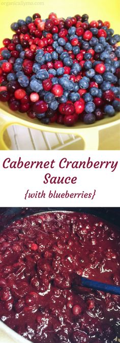 Cabernet Cranberry Sauce {with blueberries} - Organically Mo