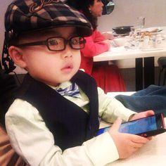 Smart business boy