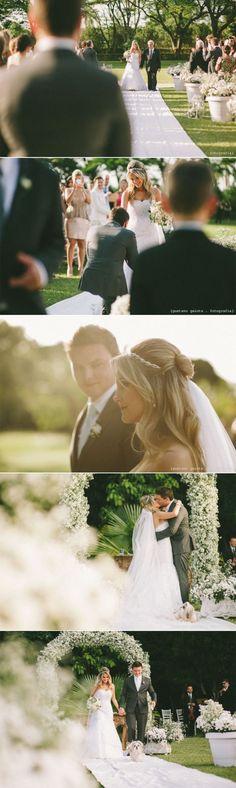 Casamento Mariana + Samuel / Cerimônia ao ar livre / Casamento de dia / Noiva de cabelo solto