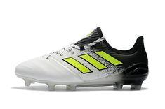 9983ea3f67 Adidas ACE 17 1 Leather FG White Black Yellow Tênis Baratos